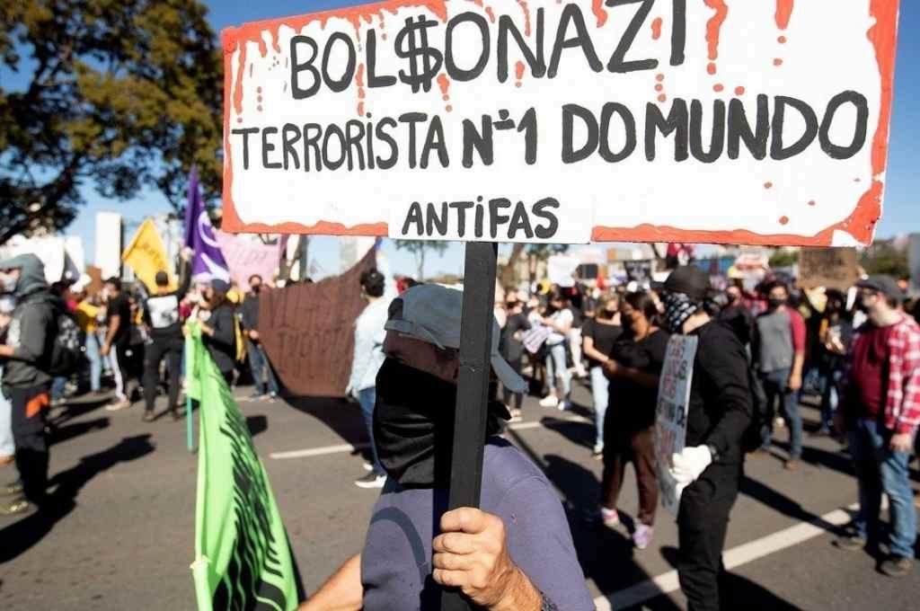 Marcha en contra de Jair Bolsonaro. También las hubo a favor.    Crédito: Gentileza