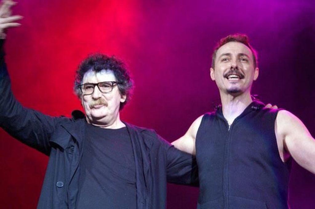 Charly García, junto a Pedro Aznar Crédito: Captura de pantalla