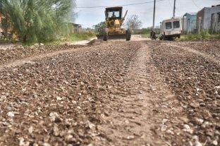 La Municipalidad avanza con el ripiado en Barranquitas Oeste