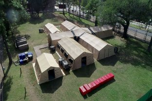 """""""A la orden"""": el hospital militar quedó listo para enfrentar la segunda ola en Santa Fe"""