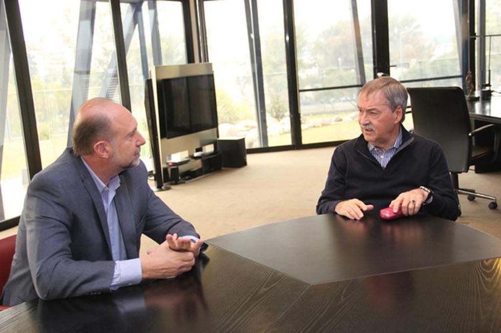 Los gobernadores Omar Perotti y Juan Schiaretti Crédito: Archivo