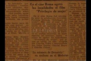 El día que una película de Irene Dunne agotó las localidades del Cine Roma