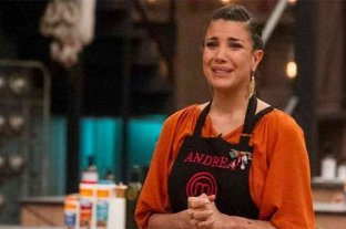 Entre lágrimas, Andrea Rincón se despidió de Masterchef Celebrity