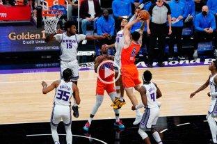 Deck suma minutos: cinco puntos y seis rebotes en la derrota de Oklahoma con Sacramento