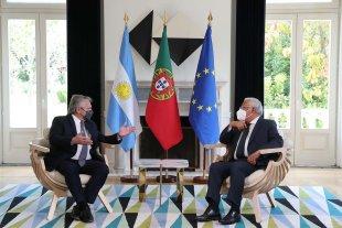 Alberto Fernández recibió el apoyo de Portugal ante el Fondo Monetario Internacional