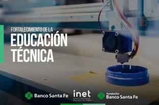 Banco Santa Fe patrocinará proyectos vinculados a educación técnica, empleo y desarrollo tecnológico