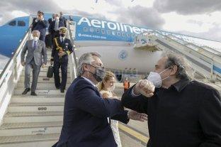 El presidente Alberto Fernández llegó a Madrid para seguir con su gira europea -  -