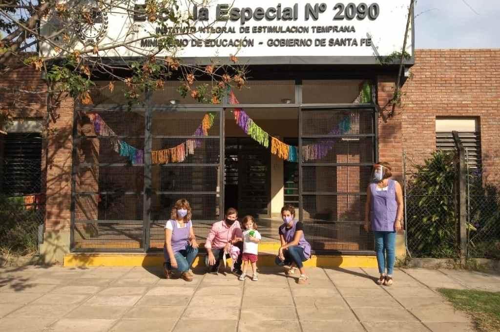 Escuela Especial de Estimulación Temprana Nº 2090 de la ciudad de Santa Fe.    Crédito: Gentileza