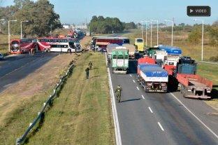 Desde el drone de El Litoral: así se ve el corte en la autopista Santa Fe - Rosario -