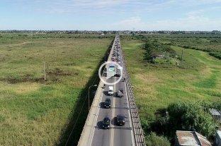 Los efectos del corte en la autopista: caos en el Puente Carretero -  -