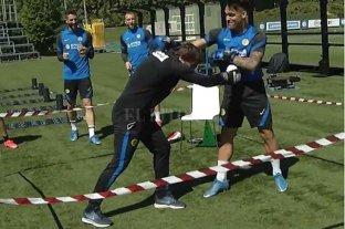 """Lautaro Martínez se fue """"a las piñas"""" con el entrenador de Inter en la práctica"""