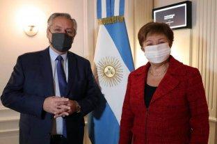 """Fernández se reunió con la titular del FMI, quien calificó la reunión como """"muy constructiva"""" -  -"""
