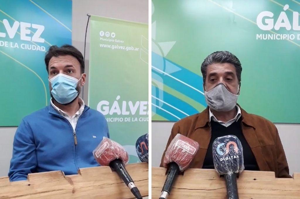 El subsecretario de Desarrollo Social, Leandro Primón y el juez Municipal de Faltas, Sergio Ledesma, respondieron preguntas de los periodistas locales. Crédito: Facebook Live