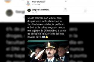 Indignación y repudio a la intendenta de Sastre por una publicación donde reivindicaba a Videla
