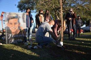 Plantaron un árbol en homenaje a Francisco Sueldo, a dos años de su muerte