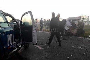 Choque múltiple en la autopista Santa Fe - Rosario -