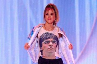 La argentina que participa de Miss Universo homenajeó a Maradona