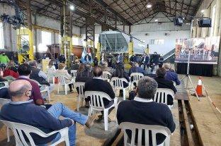 Reinauguraron los talleres ferroviarios de San Cristóbal -  -