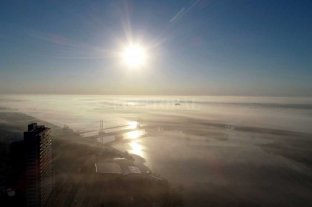 Desde el drone de El Litoral: espectaculares imágenes de la neblina sobre Santa Fe