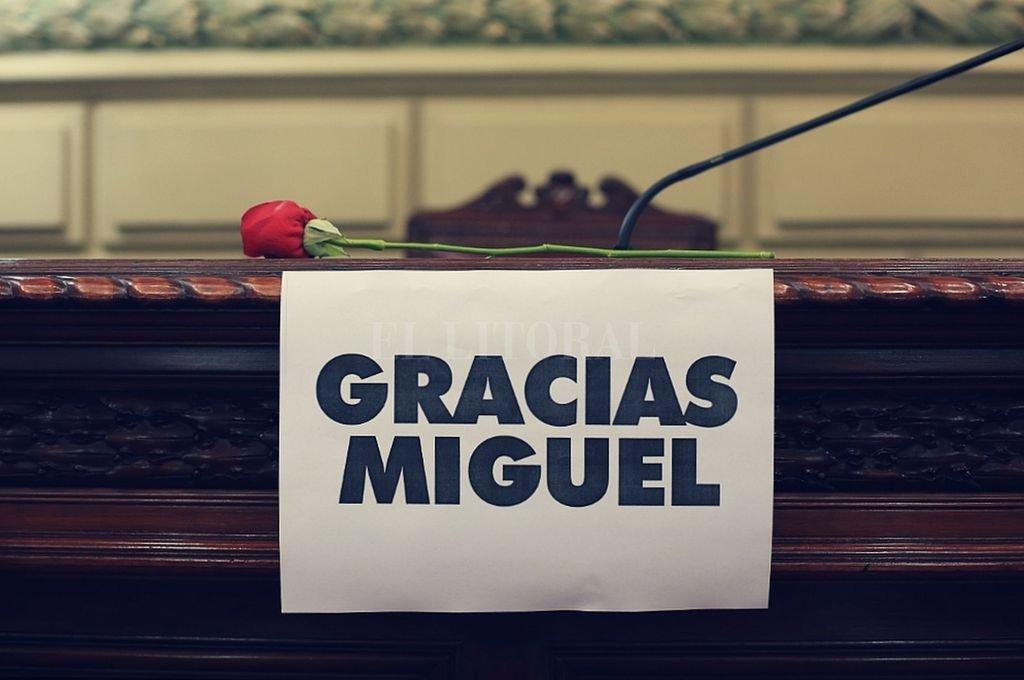 Homenaje a Miguel Lifschitz de la Cámara de Diputados de la Provincia. Crédito: Gentileza