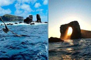 Colapsó el Arco de Darwin, ícono geológico y turístico de las islas Galápagos