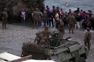 España despliega los tanques del Ejército tras la entrada de más de 6 mil migrantes.