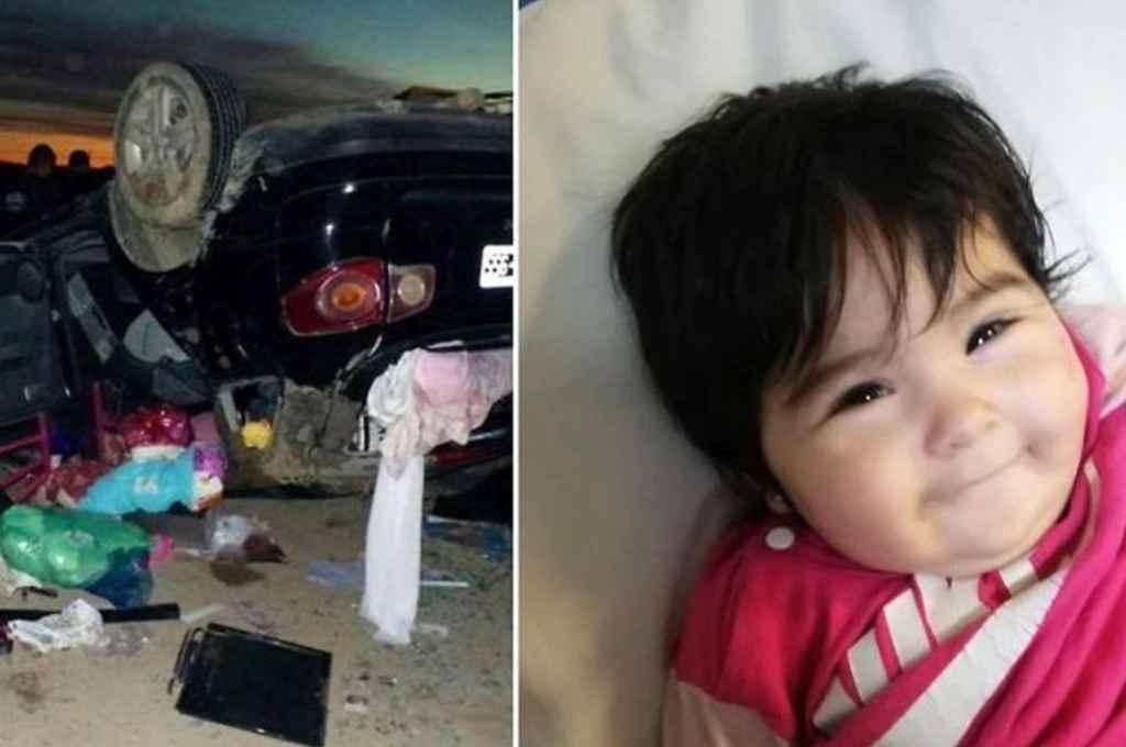 El padre admitió que la foto de la niña es en el hospital tras el accidente. Crédito: Gentileza