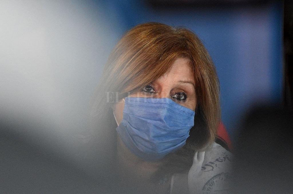 Adriana Cantero, ministra de Educación de la provincia. Crédito: Pablo Aguirre