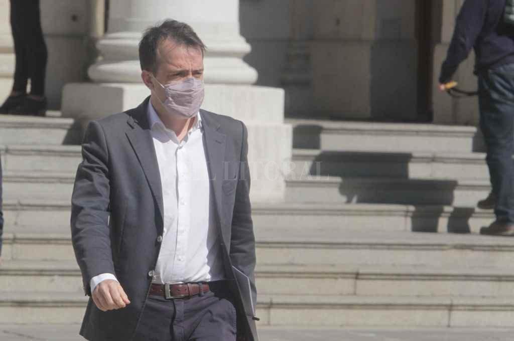 Blanco encabezó ayer la reunión de Constitucionales que dictaminó sobre el veto de Perotti.   Crédito: Mauricio Garín