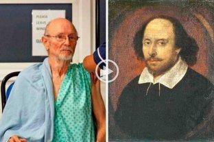 Video: conductora confundió al escritor William Shakespeare con un hombre fallecido recientemente