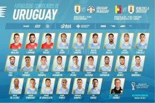 Uruguay anunció su plantel para la doble fecha