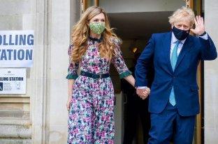Boris Johnson y  Carrie Symonds esperan su segundo hijo