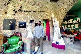 La escultura de un santafesino se une a Miguel Ángel para crear una trilogía histórica