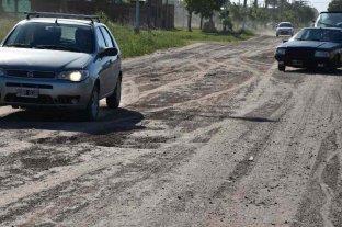 El municipio santotomesino diseña un proyecto para pavimentar Av. Riccheri