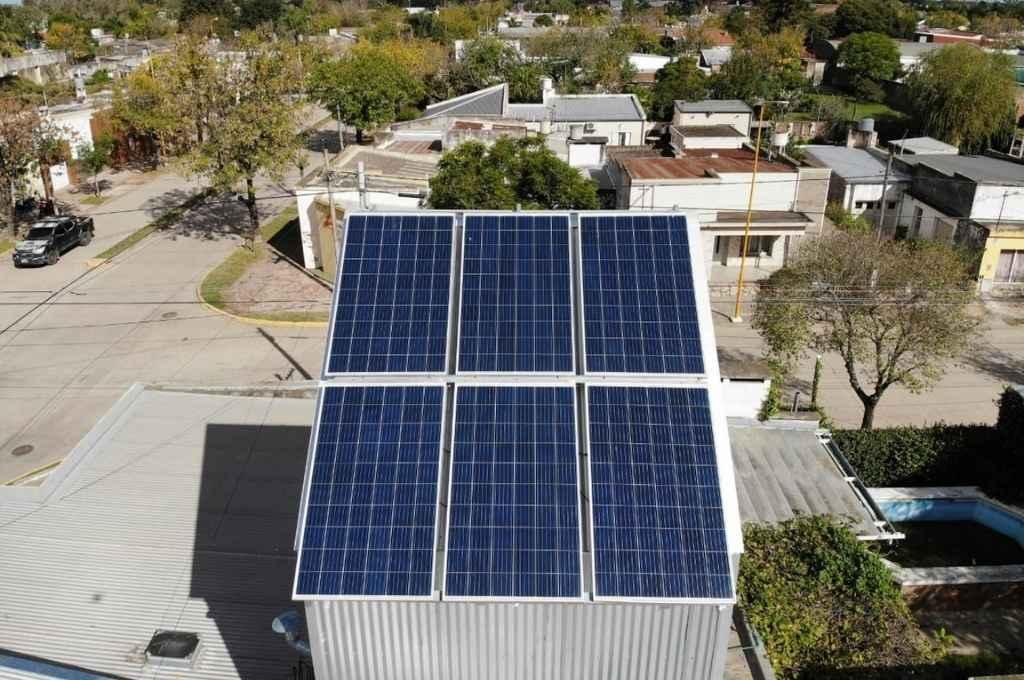 La casa de la arquitecta Silvana Gullino, un claro ejemplo de eficiencia energética.    Crédito: Gentileza Tecsolar