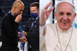 El papa Francisco destacó el gesto de Guardiola con la medalla del segundo puesto