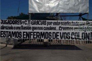 """""""Estamos enfermos de vos Colón"""": el mensaje que apareció en San Juan"""