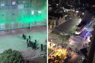 Festejos por el triunfo de Colón: la policía tuvo que dispersar a los hinchas