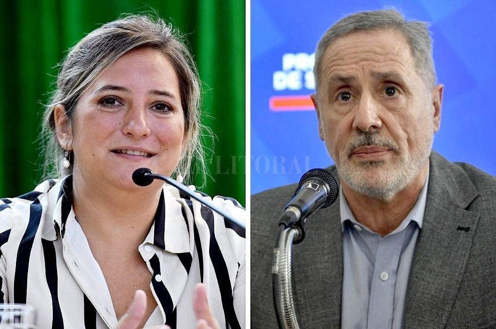 Lucila Lehmann y Marcelo Sain. Crédito: Archivo El Litoral