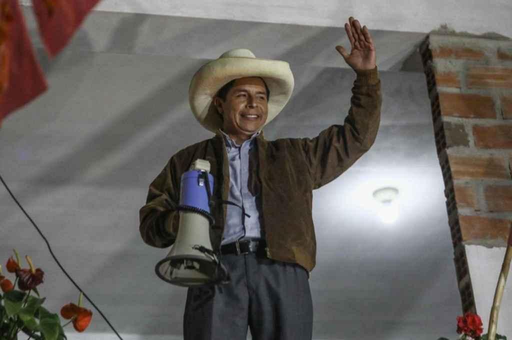 Pedro Castillo, aspirante a la presidencia de Perú en representación de los sectores de izquierda y grupos indigenistas.    Crédito: Gentileza