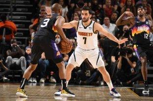 Denver perdió ante Phoenix Suns a pesar de la buena actuación de Campazzo