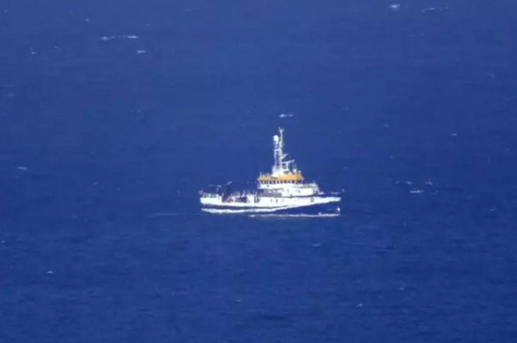 El buque oceanográfico Ángeles Alvariño, que realiza labores de rastreo en la costa de Santa Cruz de Tenerife Crédito: Marine Traffic