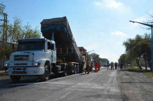 Continúan las obras sobre la ex Ruta Nacional Nº 11 en Recreo