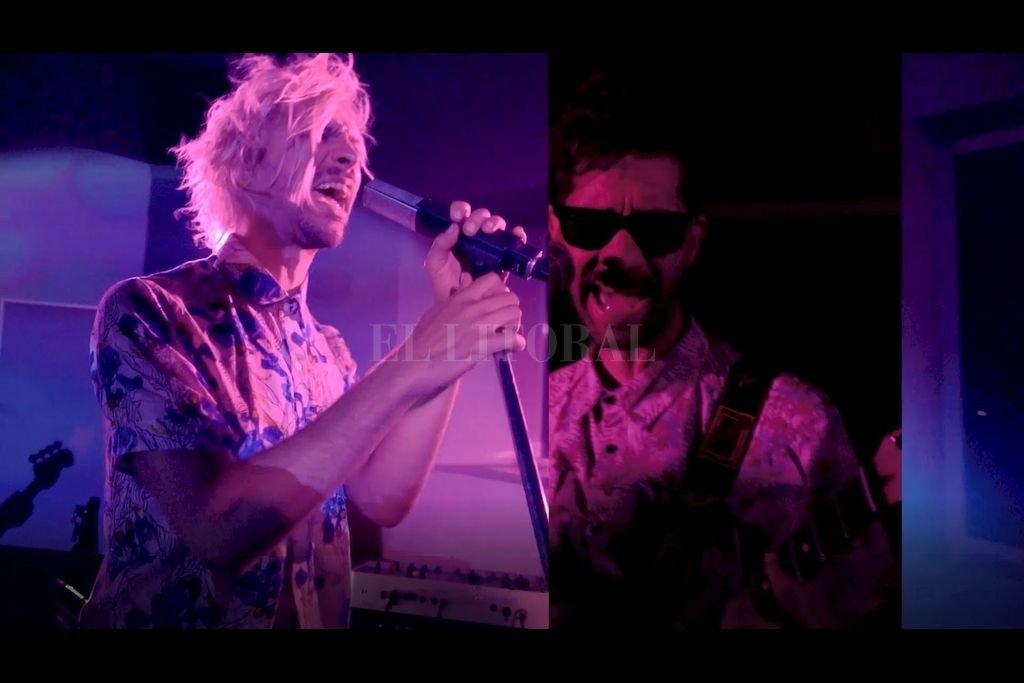 Una noche para la liberación - Pacho Geller, en pantalla partida con Mariano Donal, en la edición dinámica del video.