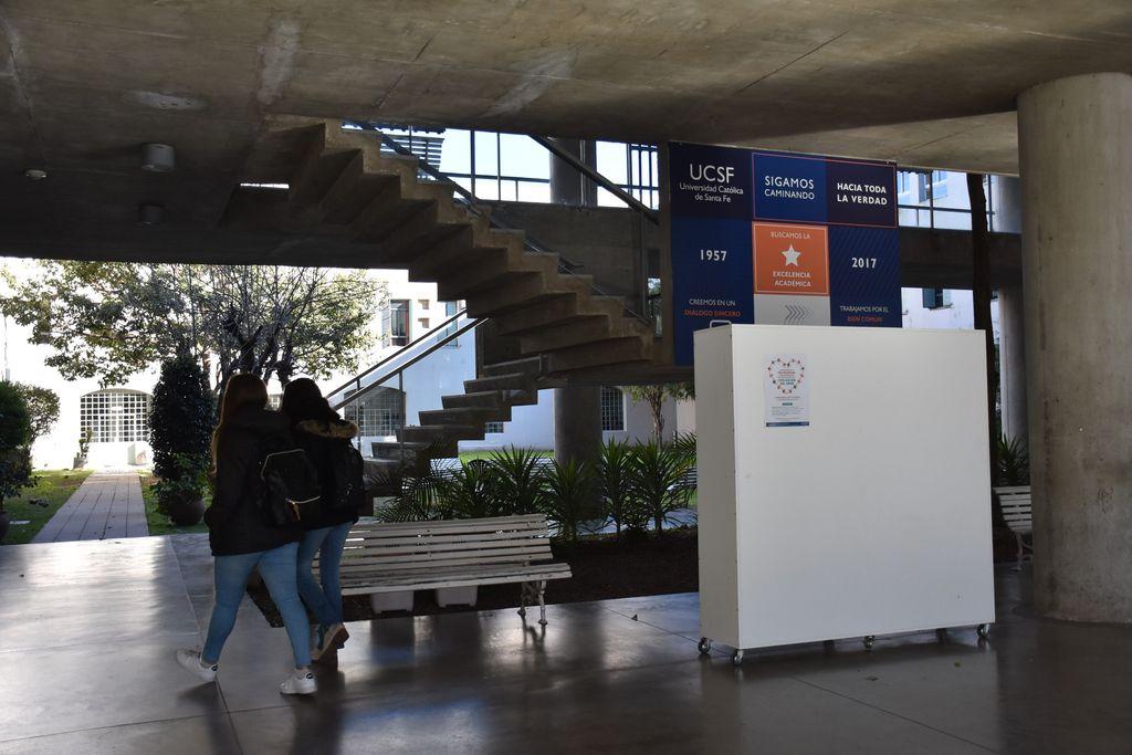 El área de ingreso de la UCSF ofrece las clases preuniversitarias como un espacio para el discernimiento vocacional. Crédito: Gentileza