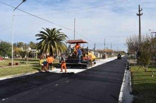 Chovet: pavimentan más cuadras y llegan a 18 en 3 años de gestión