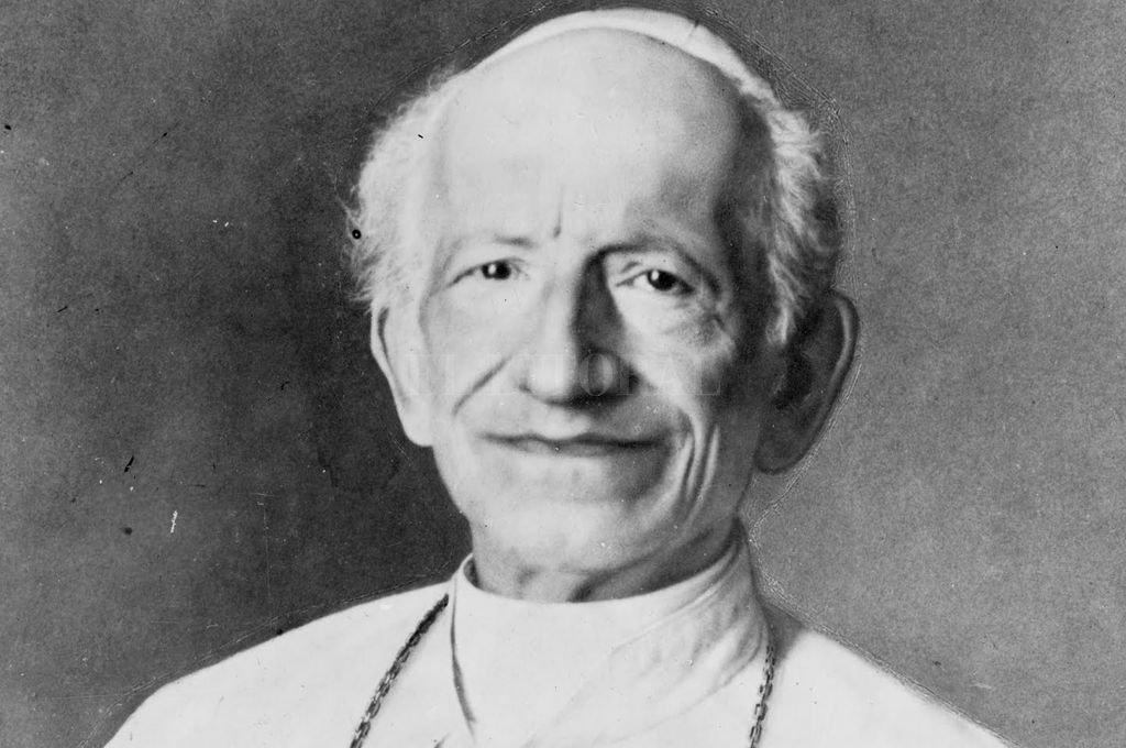Papa León XIII. Con su encíclica Rerum novarum dio inicio a la Doctrina Social de la Iglesia.  Crédito: Archivo El Litoral