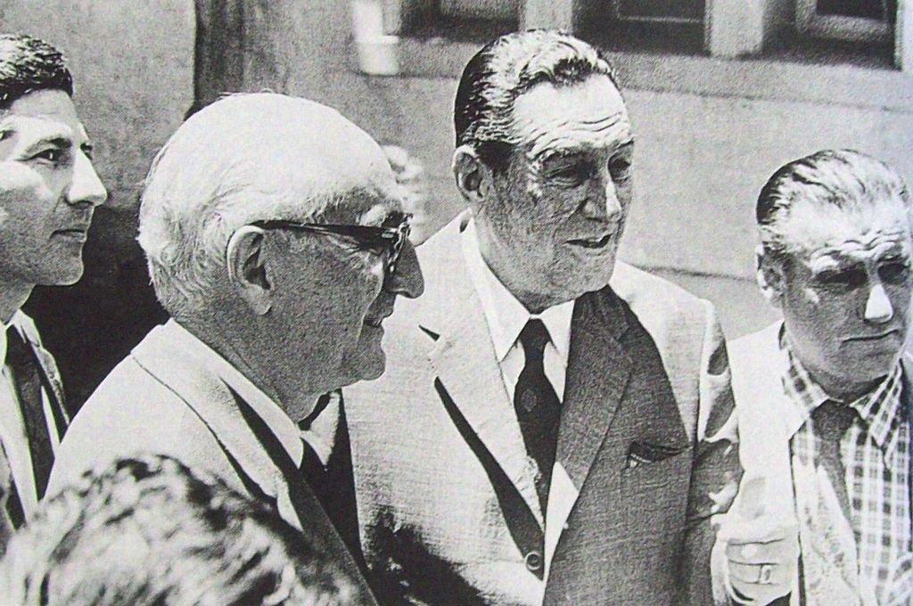 Arturo Frondizi y Juan Domingo Perón Crédito: Archivo El Litoral