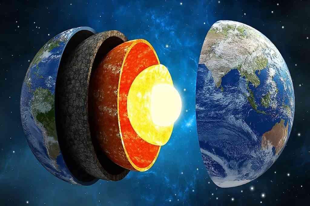 La Tierra está formada por varias capas, como una cebolla. Crédito: Agencias