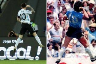 Los festejos de Messi que recuerdan a Maradona